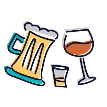 Beer, Wine & Spirits Tag Icon
